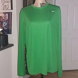Nike bold green athletic shirt. Size large